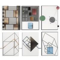 新中式客厅装饰画晶瓷画现代简约沙