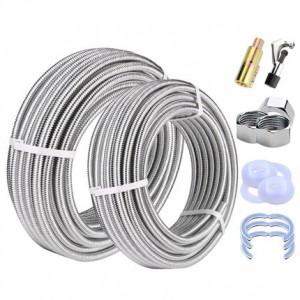 304不锈钢波纹管4分6分高压防爆耐温金属软管热水器连接冷热水管