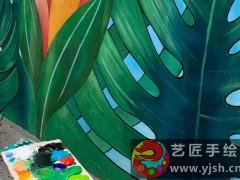 三亚海棠湾海角院子墙体彩绘